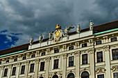 Ornate facade of an Art Nouveau building in Vienna, Austria