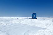 Saint Lawrence River in winter, Quebc, Canada