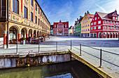 Marktplatz in Memmingen, Bayern, Deutschland