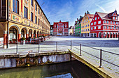 Market square in Memmingen, Bavaria, Germany