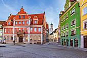 Marktplatz and Zangmeisterstraße in Memmingen, Bavaria, Germany