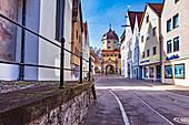 Westertor in Memmingen, Bayern, Deutschland