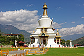 In 1974 the Stupa National Memorial Chorten was built by the Queen Mother of the Third King Jigme Dorji Wangchuk in memory of her son. Many people come to pray and meet friends.