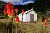 Die Kirche von Marla, Mafate, La Réunion, Frankreich