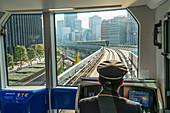 Metro train driver, Shinjuku, Tokyo, Japan
