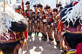 Chang tribe dancing, Nagalan, India
