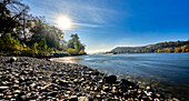 The Rhine at Bad Honnef with a view of Rolandseck, Bad Honnef, Germany
