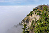 Die Sonnenspitz über den Wolken, Kochel am See, Oberbayern, Bayern, Deutschland, Europa