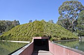 CANBERRA - FEB 22 2019:Skyspace installation in National Gallery of Australia in Canberra Australia Capital Territory.It is the national art museum of Australia holding more than 166,000 works of art.