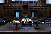 CANBERRA - FEB 22 2019:The House of Representatives chamber at the Old Parliament House in Canberra Parliamentary Zone Australia Capital Territory