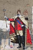 Czech Republic, Moravia, Olomouc, mural, wall painting,