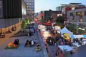 Canada, Quebec, Montreal, Quartier des Spectacles, Place des Arts,  Jazz Festival, people,