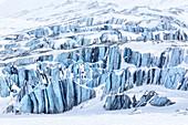 Ice details of Paulabreen, Van Mijienfjorden, Spitsbergen, Svalbard\n\n