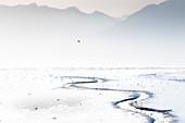 Valdez fjord at low tide, Prince William Sound, Alaska