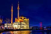 Ortaköy Mosque by night,Istanbul, Turkey,Turkish
