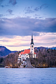 Bled Island and Lake Bled,Upper Carniola region, Slovenia, Europe