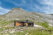 Selva dei Molini, province of Bolzano, South Tyrol, Italy, Europe. The Edelraut refuge in the Pfunderer Mountains