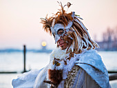 Typical mask of Carnival of Venice in Riva degli Schiavoni, Venice, Veneto, Italy