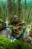 Johnston Canyon Falls, Banff National Park, Alberta, Canada