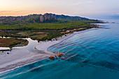 Berchida Beach in Siniscola, Nuoro, Sardinia, Italy
