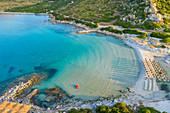 Punta Molentis cape and beach, Villasimius, Cagliari, Sardinia, Italy