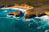London Arch (London Bridge) and Twelve Apostles Marine National Park near Port Campbell, Great Ocean Road, Victoria, Australia