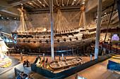 The Vasa Swedish warship in the Vasamuseet (Vasa Museum) in Stockholm, Sweden