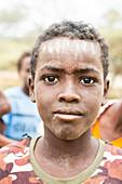 Teenage boy, Melabday, Asso Bhole, Danakil Depression, Afar Region, Ethiopia, Africa