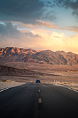 US 190 road, Death Valley National Park, California, USA