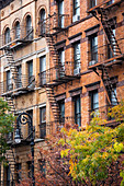 Typical external stairs in Manhattan. New York, USA