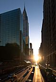Manhattan edge near Chrisler Building. New York, USA