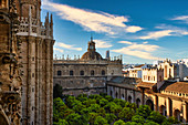 La Giralda and Seville Cathedral, Seville, province of Seville, Andalusia, Spain