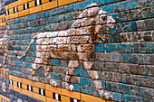 Lion from the Processional Way, Ishtar Gate, Pergamon Museum, Museum Island, Berlin, Germany, Europe, West Europe