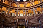 Teatro Farnese (Farnese Theatre) within the building complex of Palazzo della Pilotta, Parma, Emilia Romagna, Italy, Europe.
