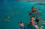 Blue Lagoon, Rangiroa, Tuamotu Archipelago, French Polynesia.