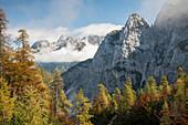 Scenic view of Julian Alps, Vrsic Pass, Triglav National Park, Upper Carniola, Slovenia