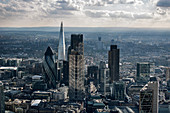 Aerial view of City of London. Financial District, London, England, UK