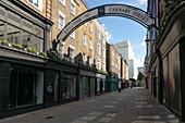 View along an empty Carnaby Street in London during the Corona virus crisis.
