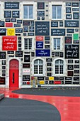 France, Loir et Cher, Loire valley listed as World Heritage by UNESCO, Blois, facade of the Fondation du Doute, a contemporary art center created by Ben