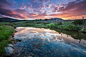 France, Lozere, Les Causses et les Cevennes, cultural landscape of the Mediterranean agro pastoralism, listed as World Heritage by UNESCO, National park of the Cevennes, listed as Reserve Biosphere by UNESCO, river the Tarn near her source