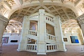 France, Loir et Cher, Loire valley listed as World Heritage by UNESCO, Chambord, the royal castle, the Grand staircase attributed to Leonardo Da Vinci