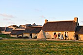 Frankreich, Finistere, Pays Pagan, Gebiet von Kerlouan, historisches Dorf Meneham, ehemaliger Weiler der Fischer und Algen restauriert