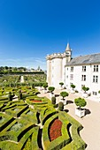 France, Indre et Loire, Loire Valley listed as World Heritage by UNESCO, Villandry, Chateau de Villandry gardens, property of Henri and Angelique Carvallo, gardens and castle