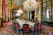 France, Paris, area listed as World Heritage by UNESCO, Louvre museum, Napoleon III appartments, the dining room