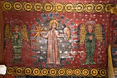 France, Cotes d'Armor, Plougrescant, chapel of St Gonery, painted vault, the creation of the world, creation of the stars
