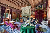 France, Indre et Loire, Loire valley listed as World Heritage by UNESCO, castle of Azay le Rideau, Biencourt room