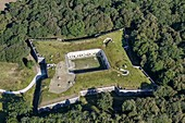 France, Charente Maritime, Aix island, Fort Liedot (aerial view)