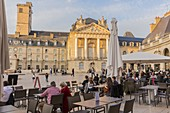 France, Cote d'Or, Dijon, the Liberation Square in front of Tower Philip the Good and Palace of the Dukes of Burgundy which houses the town hall and the Museum of Fine Arts