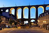 France, Finistere, Morlaix, place des Otages, viaduct