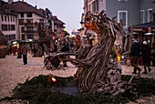 France, Haute Savoie, Evian, the fabulous village and the Flottins legend, a one-month show during the Christmas period